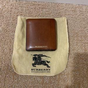 Burberry Wallet brown leather men's wallet
